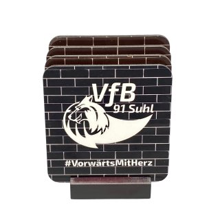 VfB Suhl LOTTO Thüringen Untersetzer Set schwarze Wand