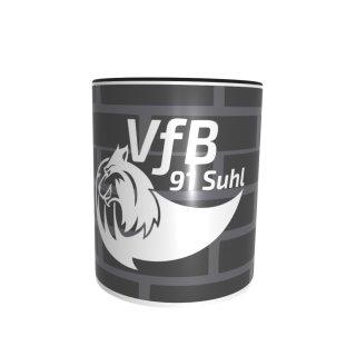 VfB Suhl LOTTO Thüringen Tasse Schwarze Wand